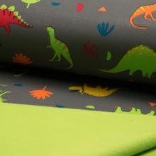 Softshell šedý, farební dinosaury, š.145