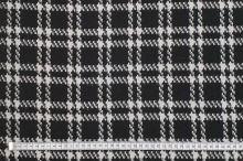 Kabátovina 17314, čierno-biele káro, š.150