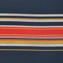 Kabátovina modrá, barevné pruhy, š.150