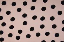 Šatovka 21649 pudrová, velké černé puntíky, š.140
