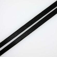 Stuha čierna saténová oboulíc, šírka 7mm