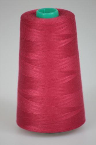 Niť KORALLI polyesterová 120, 5000Y, odtieň 2610, červená-ružová