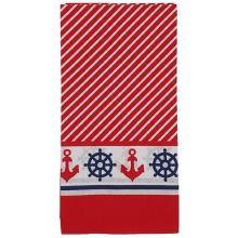 Dětský šátek červenobílý, námořnický vzor, 55x55cm