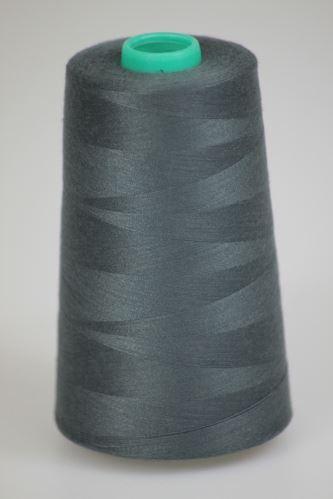 Niť KORALLI polyesterová 120, 5000Y, odtieň 5960, šedá-zelená
