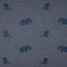 Úplet modrá melanž, dinosauři, š.145