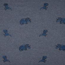 Úplet modrá melanž, dinosaury, š.145