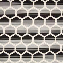 Dekorační materiál, šedý geometrický vzor, š.150