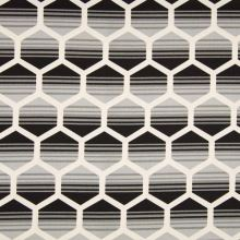 Dekoračný materiál, sivý geometrický vzor, š.150