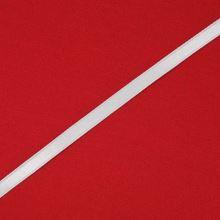 Stuha biela saténová oboulíc, šírka 7mm