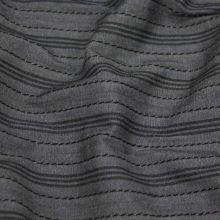 Košeľovina sivá, čierny pruh, š.155