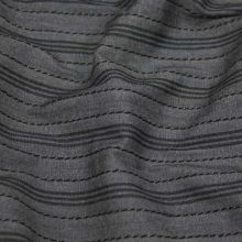 Košilovina šedá, černý pruh š.155