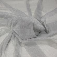 Tyl šedý, štříbrný třpyt, š.155