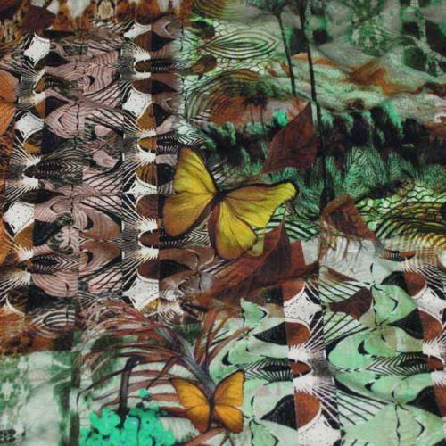 Úplet farebný 16148, žltí motýle, š.155