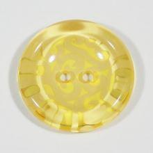 Knoflík žlutý, průměr 25 mm