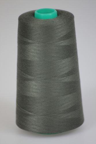 Niť KORALLI polyesterová 120, 5000Y, odtieň 7680, šedá-zelená