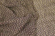Šifon bordó, růžovožlutý vzor š.135