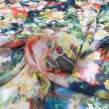 Šifon barevný 20297, abstraktní vzor, š.145