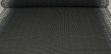 Šifón krémovo-čierny, bordúra, š.145