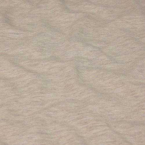 Teplákovina počesaná béžová, melé, š.150