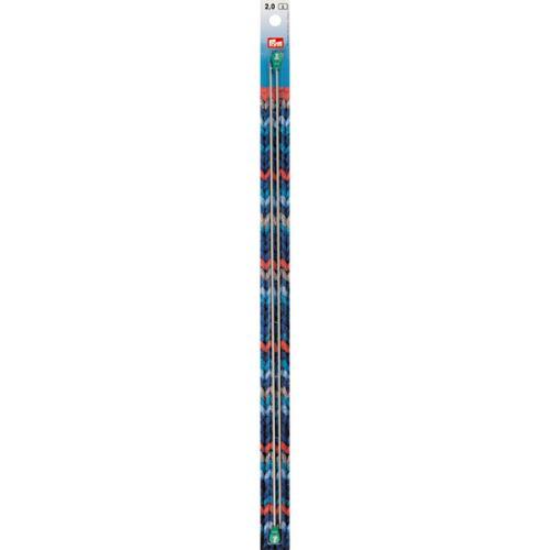 Rovné pletací jehlice Prym 40 cm, velikost 2,0