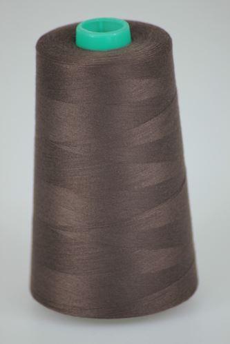 Nit KORALLI polyesterová 120, 5000Y, odstín 8580, hnědá