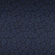 Kabátovina čierna, modrý zvierací vzor š.150