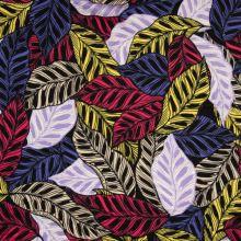 Úplet červené, modré a žluté listy, š.150