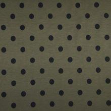 Úplet LINO khaki, čierne bodky, š.150