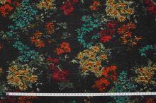 Kostýmovka hnědá 15189, barevný vzor, š.150