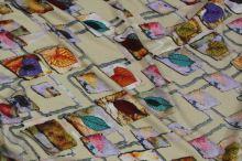 Úplet mozaika, barevné listy, š.155