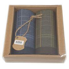 Pánské kapesníky M51A v eko krabičces průhledným víkem, sada 2ks