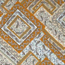 Šatovka okrovo-bílý vzor, š.145