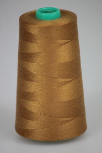 Nit KORALLI polyesterová 120, 5000Y, odstín 8250, béžová-hnědá
