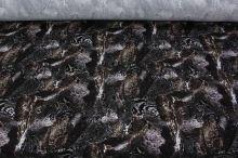 Úplet hnědo-černý vzor 15072, š.150