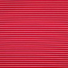 Úplet červený, tenký bílý pruh, š.170