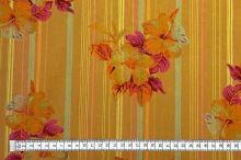 Košilovina 06372 okrová, barevný květ, pruh š.150