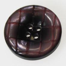 Knoflík růžovočerný vzorovaný K40-2, průměr 25 mm.