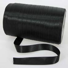 Stuha čierna saténová oboulíc, šírka 20mm