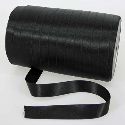 Stuha černá saténová oboulíc, šíře 20mm