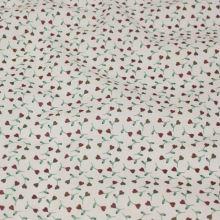 Bavlněné plátno krémové BW1414, květinový vzor, š.140