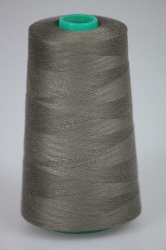 Niť KORALLI polyesterová 120, 5000Y, odtieň 7560, šedá