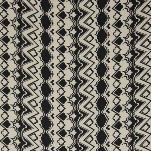 Satén bieločierna, vzor š.145