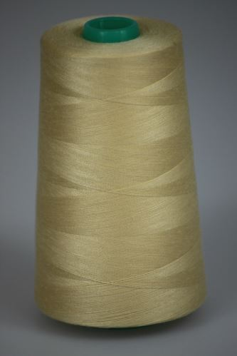 Niť KORALLI polyesterová 120, 5000Y, odtieň 1150, béžová
