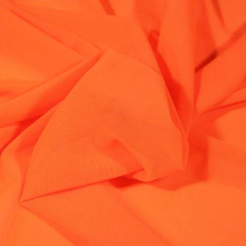 Elastický tyl N3749 neónovo oranžový, š.165