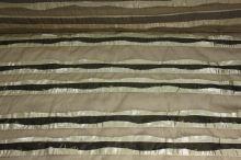 Hedvábí béžové, zlatohnědý pruh š.135