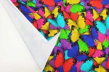 Teplákovina barevní motýlci, š.175