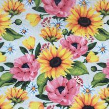 Dekoračná látka P0546, kvetinový vzor, š.140