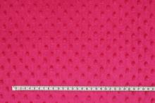 Minky růžové, protlačované ťuplíky, š.150