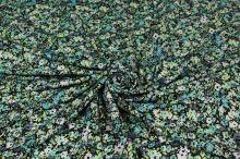Úplet zeleno-žluto-šedý, drobný květ, š.150