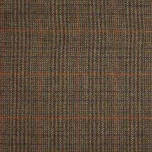 Kostýmovka hnědá, barevné káro š.155